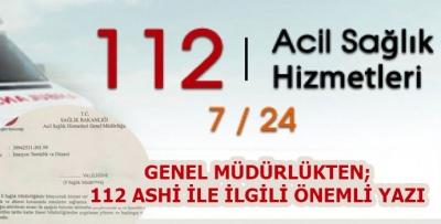 112 ASH İstasyonları Hakkında Önemli Yazı