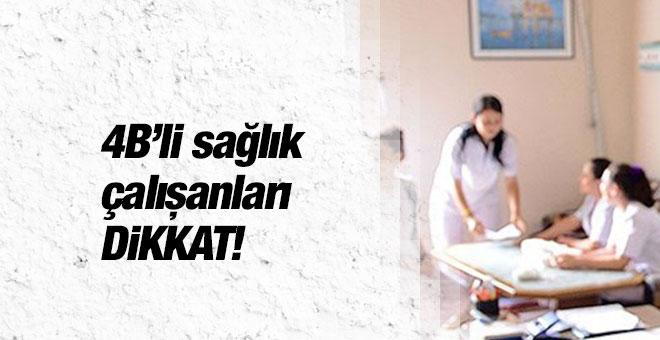 4B'li sağlık personeli 2016 yer değişikliği kurası 'eş durumu'