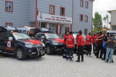 14 kişilik UMKE personeli Afrin'e uğurlandı