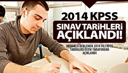 2014 KPSS sınav tarihleri açıklandı
