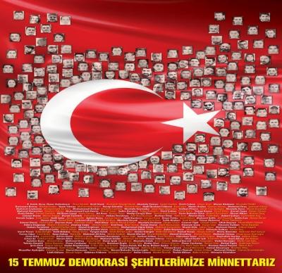 15 Temmuz Demokrasi Şehitlerimize Minnettarız