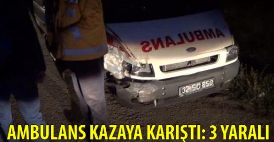 Ambulans Kaza Yaptı 3 Yaralı