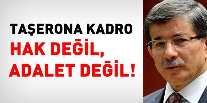 Taşerona kadro hak değil adalet değil!