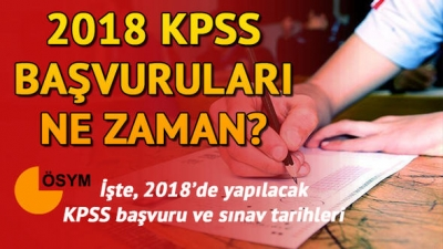 2018 KPSS Ne Zaman Yapılacak? KPSS Sınav Takvimi