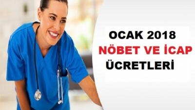 2018 Sağlık Personeli Nöbet ve İcap Ücretleri
