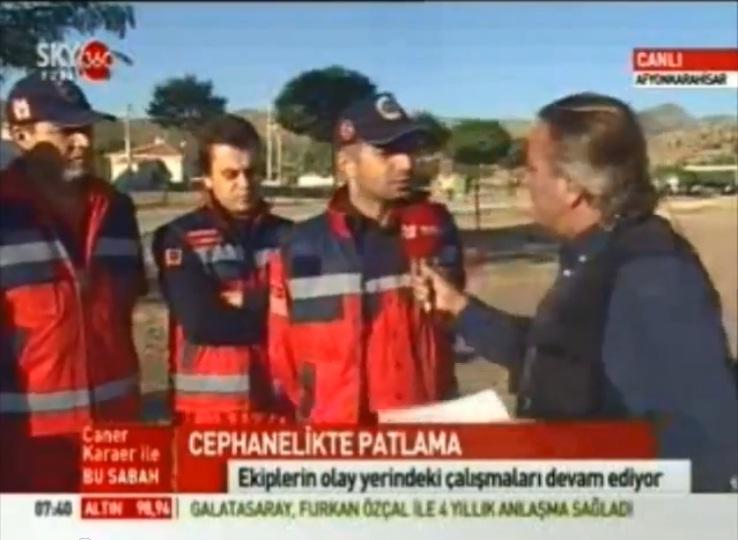 Afyonkarahisar'daki patlamaya İlk Uşak UMKE ekibi ulaştı!