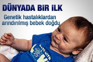 Dünyanın ilk genetik bebeği doğdu