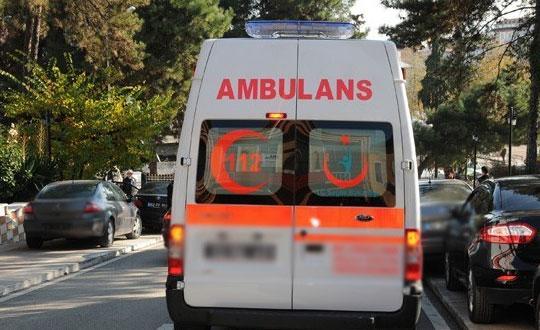 Ambulans ineğe çarptı