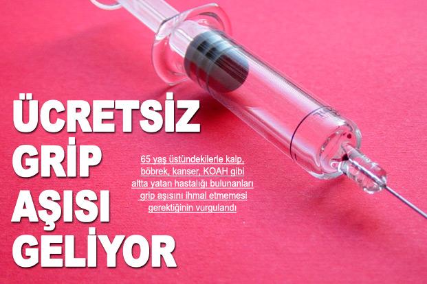Ücretsiz grip aşısı geliyor