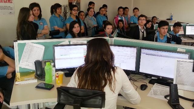 Sağlık meslek lisesi öğrencilerinden 112 Acil'e ziyaret