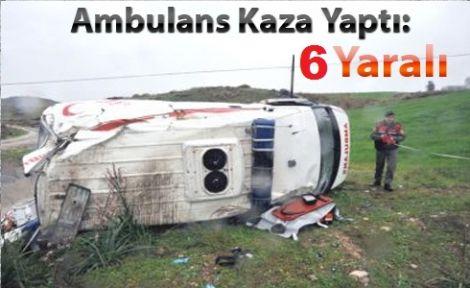 Sakarya'da Bu Yıl 6. Ambulans Kazası 6 Yaralı