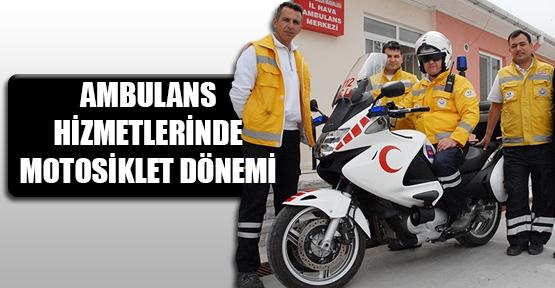 Giresun'da motosiklet ambulans hizmete girdi