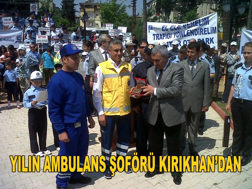 Yılın Ambulans şoförü Kırıkhan'dan