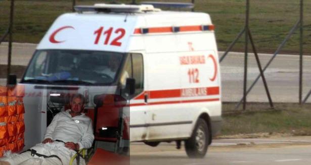 Ambulans şoförüne yol vermedin dayağı!