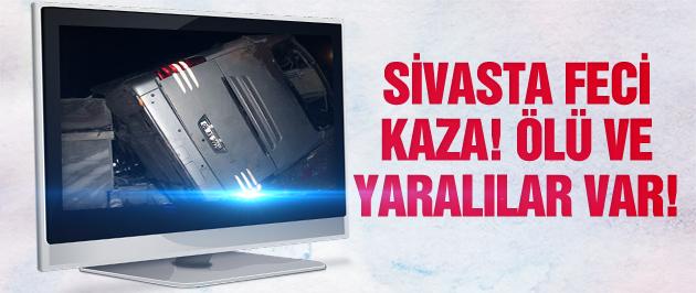 Sivas'ta yolcu otobüsü devrildi! Ölü ve yaralılar var!