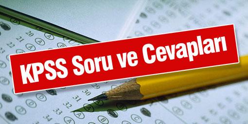 2014-KPSS Ortaöğretim/Ön Lisans Sınavlarına Ait Soru Kitapçıkları ve Cevap Anahtarları