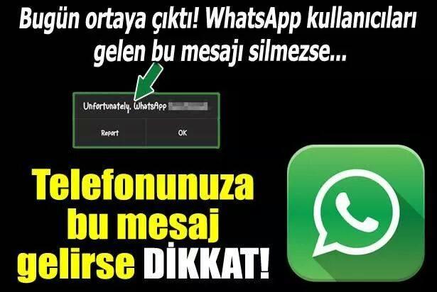 Dikkat! Bu mesaj WhatsApp'ı kilitliyor!