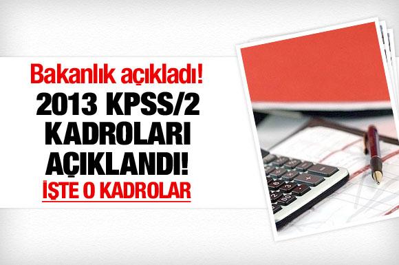 DPB, 2013/2 KPSS kadrolarını açıkladı