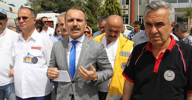 Samsun'da 112 Acil Servis İstasyonu Saldırıya Uğradı