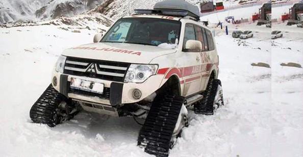 112 Acil Servis ekipleri paletli ambulanslarla hastalara ulaştı