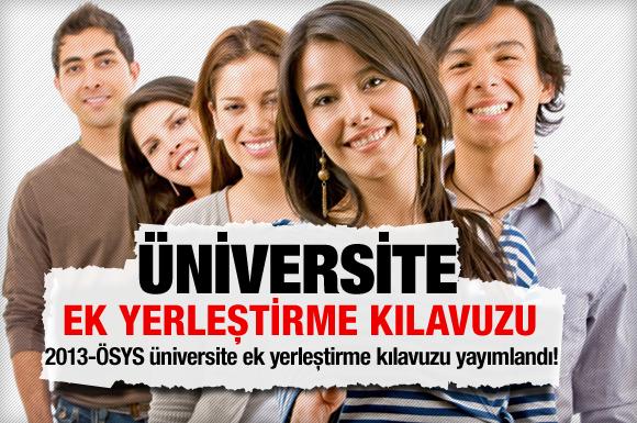 2013-Üniversite ek yerleştirme kılavuzu-TIKLAYINIZ