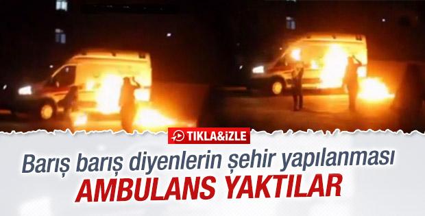 Mardin'de hasta almaya giden ambulansa molotoflu saldırı! TIKLA İZLE