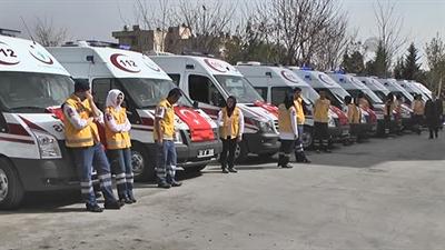 Çalışma ve Sosyal Güvenlik Bakanı Faruk Çelik ; Ambulans Kullandı