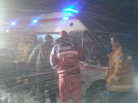 Sivas'ta sağlık ekibi de mahsur kaldı