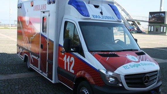 Giresun'da 4 sedyeli ambulans