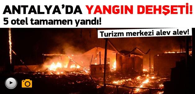 Antalya'da yangın dehşeti!