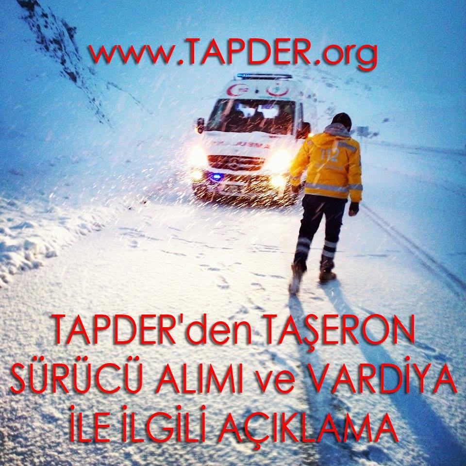 Tapder'den Taşeron Sürücülük Ve Vardiya Sistemi Hakkında Açıklama
