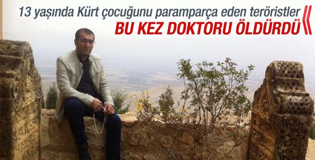 Diyarbakır'da yol kesen PKK'lılar doktoru öldürdü ! Ambulans bir süre bölgeye giremedi