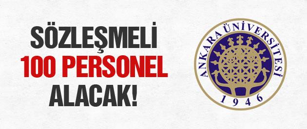 Ankara Üniversitesi sözleşmeli 100 personel alacak
