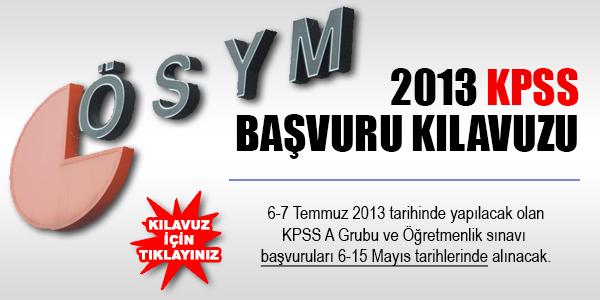 2013 KPSS Tercih Kılavuzu Açıklandı