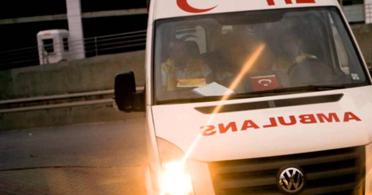 30 yaralı ve ambulans açıklaması