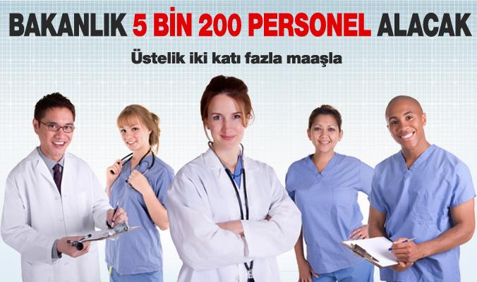 Sağlık Bakanlığı 5 bin 201 Adet Sağlık Personeli Alacak