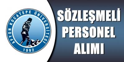 Afyon Kocatepe Üniversitesi 113 Sözleşmeli Personel Alımı İlanı