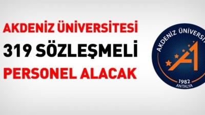 Akdeniz üniversitesi 319 Kamu Personeli Alım İlanı Yayımlandı!