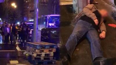 Ambulansın sireninden rahatsız olup önüne kırdı... 'Beyaz kod' verildi