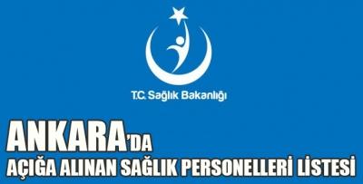 Ankara'da Açığa Alınan Personel Listesi