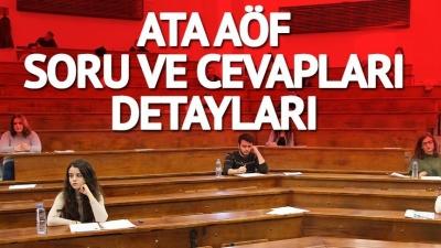 ATA AÖF Final Soru ve Cevapları (12-13 Mayıs 2018)