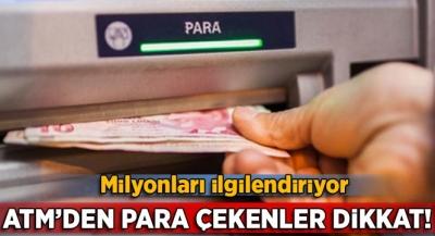 ATM'den kredi kartıyla nakit para çekenler dikkat!
