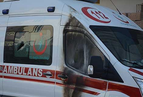 Ambulanslara terör engeli: Acil çağrıların çoğuna gidemediler