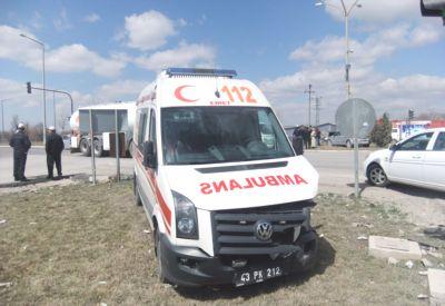 Kütahya'da Ambulans Kazası: 2 Yaralı