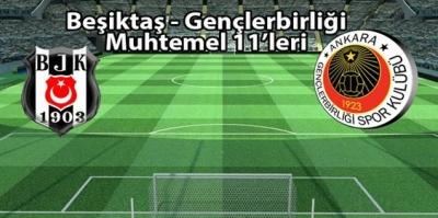 Beşiktaş-Gençlerbirliği maçının muhtemel 11'leri
