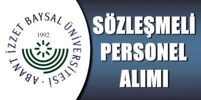 Bolu Abant İzzet Baysal Üniversitesi Sözleşmeli Sağlık Personeli Alıyor