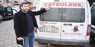 Böylesi ancak Karadeniz'de olur... 'Ambulans' değil, 'çaybulans'!