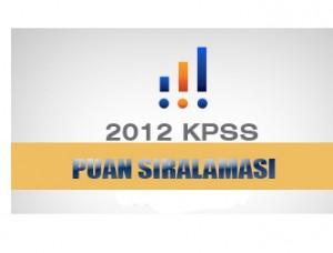 2012 KPSS Branş Bazında Sıralama