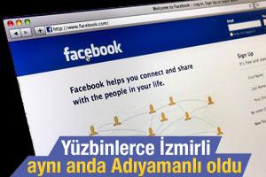 Facebook'ta yüzbinlerce İzmirli Adıyamanlı oldu