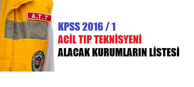 2016/1 KPSS ATT Kadroları